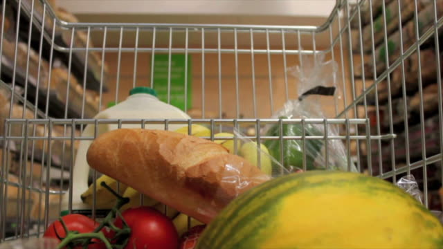Healthy food Supermarket shop. video