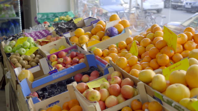 healthy fruits at the supermarket aisle - paleo diet stock videos and b-roll footage