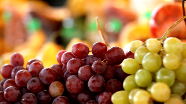 Healthy fruits food, dynamic view video