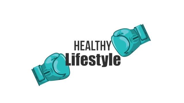 健康的な生活習慣 - 拳 イラスト点の映像素材/bロール