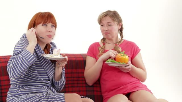 Healthy Versus Unheathy Eating, Fruit and Vegetables or Junk Food video