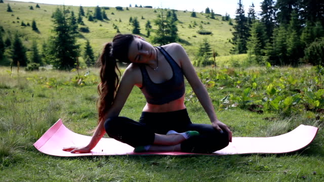 Healthy young independent female yoga practitioner