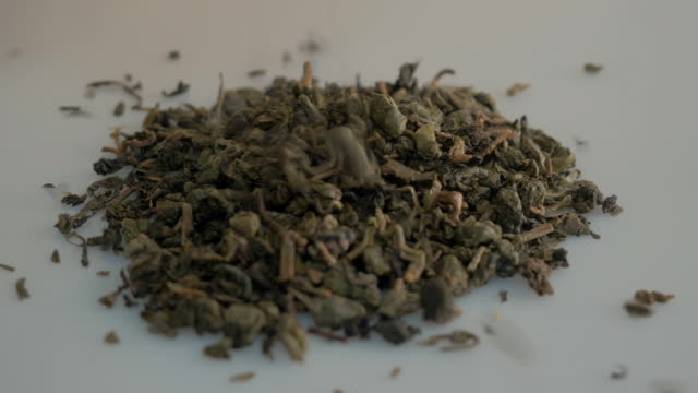 Heap of Chinese green tea video