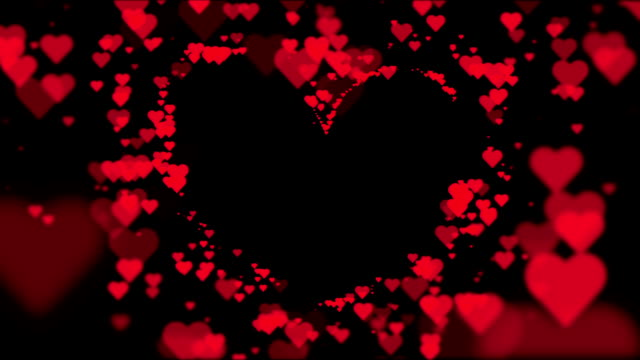heart background. love background. loop - cuore video stock e b–roll