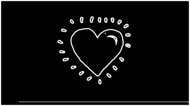 Heart beat animation v1 black backgraund