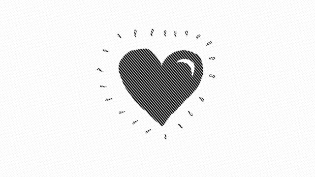 Heart beat animation v1 white