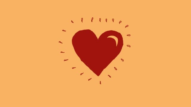 Heart beat animation v1 yellow