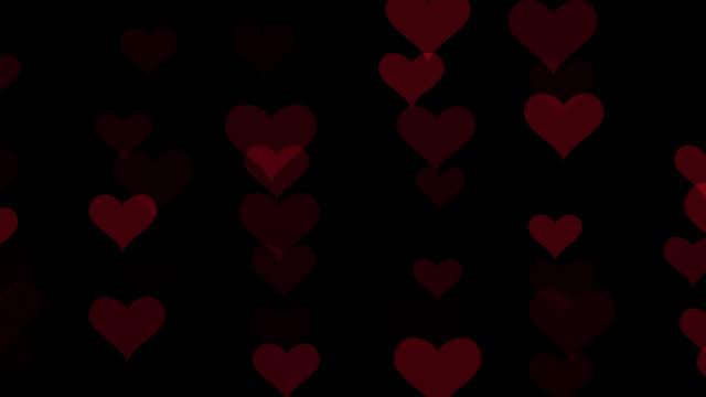 Heart bokeh pattern design with alpha channel.Bokeh heart valentine concept