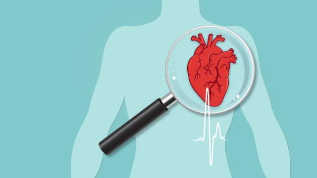 vídeos de stock e filmes b-roll de heart checkup - ataque cardíaco