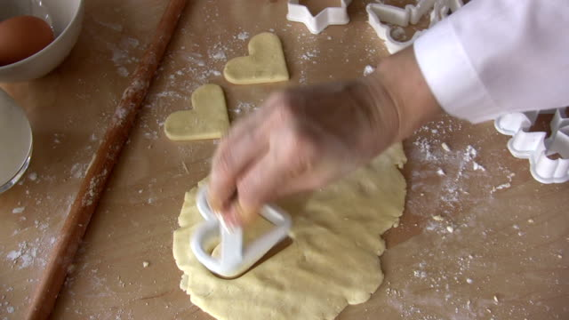 Heart Cookie Dough Heart Cookie Dough. HD 1080i. cookie cutter stock videos & royalty-free footage