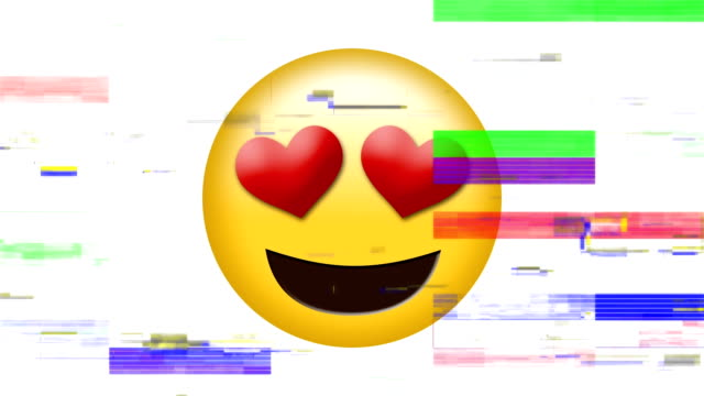 heart eyes emoji - rappresentazione umana video stock e b–roll