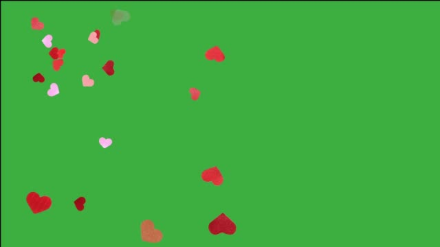 heart falling for valentines day, with many small detail heart video