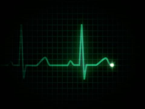 vídeos de stock e filmes b-roll de coração flatline pal - ataque cardíaco