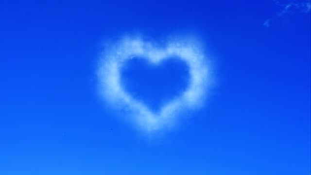 heart from cloud on sky video