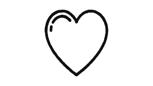 vídeos de stock e filmes b-roll de heart icon animation footage & alpha channel - coração fraco