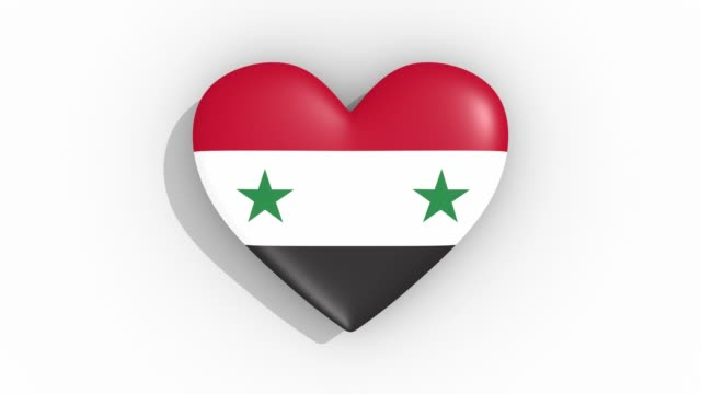 Heart in colors flag of Syria pulses, loop Heart in colors flag of Syria pulses, loop damascus stock videos & royalty-free footage