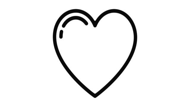 grafika ruchu linii serca - miesiąc filmów i materiałów b-roll