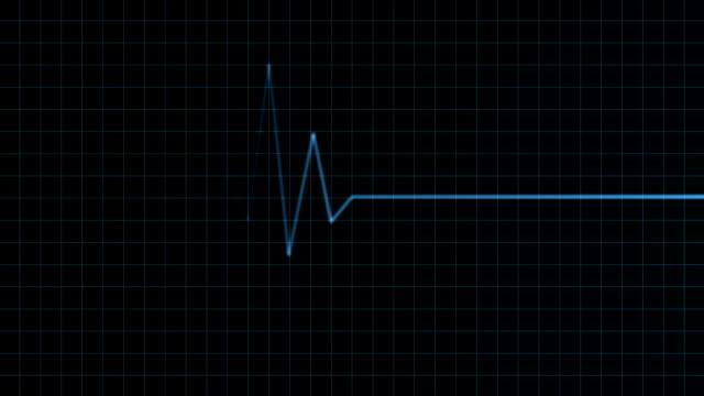 vídeos de stock e filmes b-roll de monitor de coração animação - coração humano