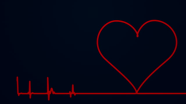 Heart Monitor Pulse Trace, Dead, Graph, Dead Person, Human Heart pulse trace stock videos & royalty-free footage