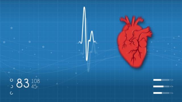 vídeos de stock e filmes b-roll de heart monitor - ataque cardíaco