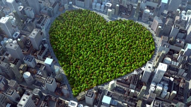 stockvideo's en b-roll-footage met hart van stadspark - eco