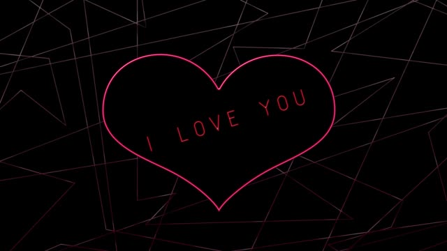 Heart on abstraction background with text about love