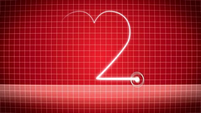 Heart on the EKG Pulse Trace | Loopable video