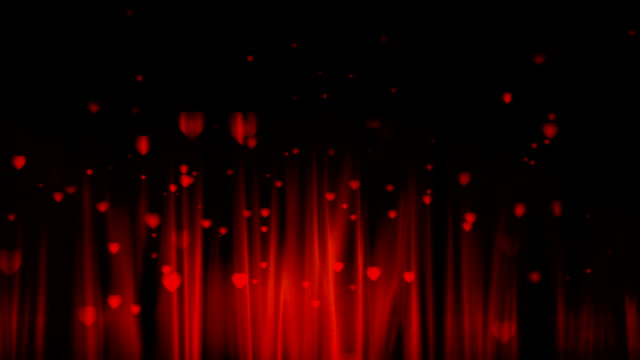 Heart particles explosion background. video