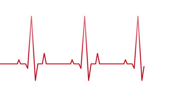 vídeos y material grabado en eventos de stock de línea de frecuencia cardíaca - electrocardiograma