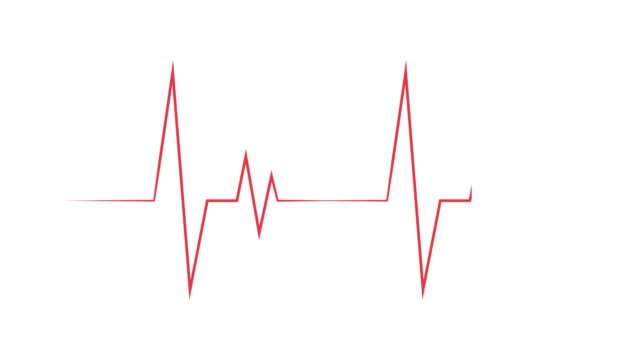 vídeos de stock e filmes b-roll de a heart rate video that can be used as a background or theme saver. a red pulsating line that can loop indefinitely. - artéria humana
