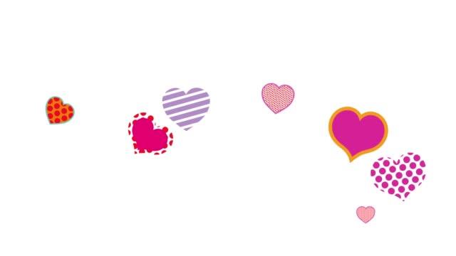 herz-form-animation-hintergrund - valentinstags karte stock-videos und b-roll-filmmaterial
