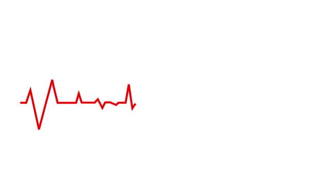 animacja kształtu serca. walentynki - święto. kartka z życzeniami. wideo 4k - miesiąc filmów i materiałów b-roll