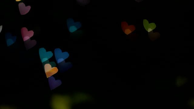 heart shape colorful bokeh background