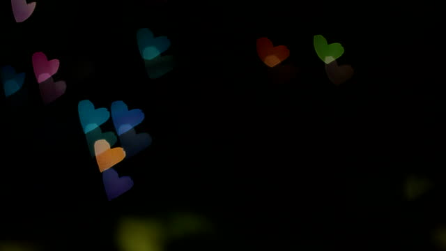 Heart shape colorful bokeh background