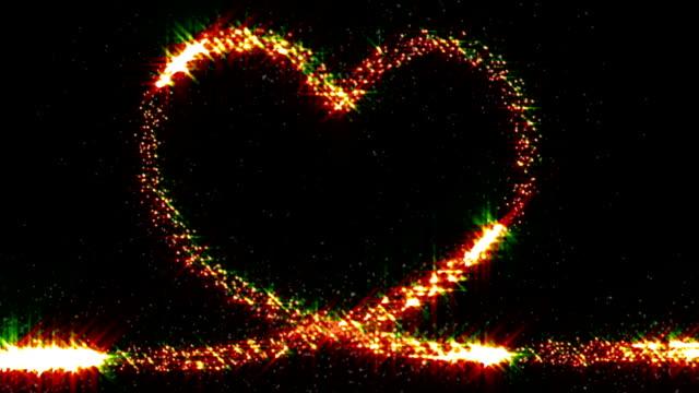 Heart shape loop video