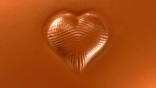 ハート形に散りばめ、ホットチョコレートの面 - バレンタイン チョコ点の映像素材/bロール