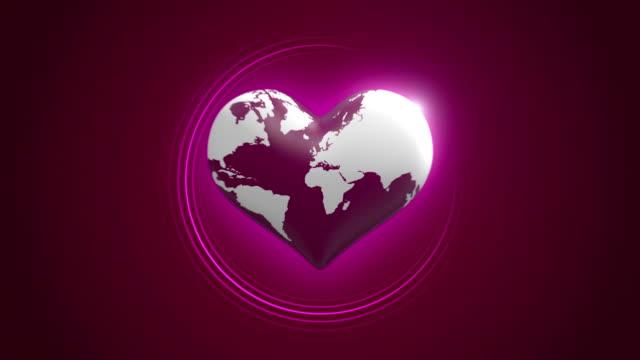 Heart Shaped Beating Globe video