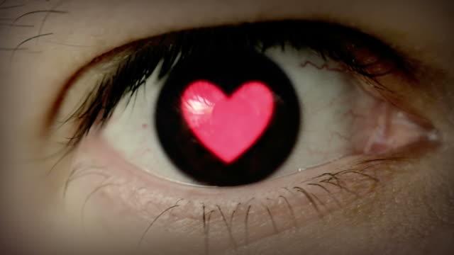 Heart shaped eye. video