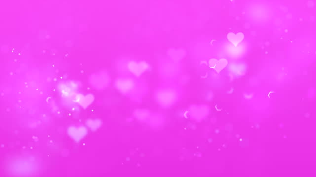 Heart Shapes Background Seamless Loop Paritcles