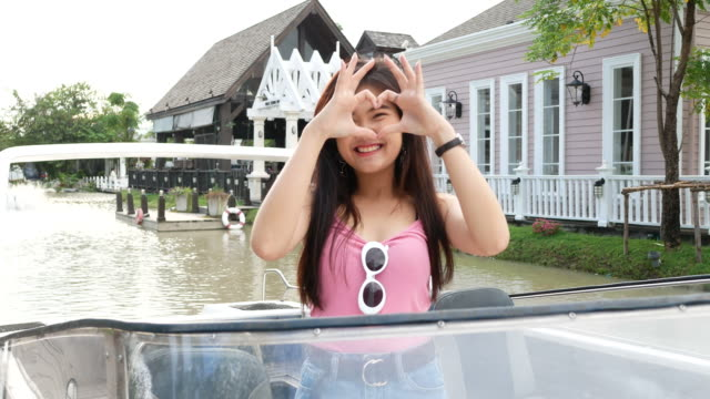 Heart Sign by young Asian woman