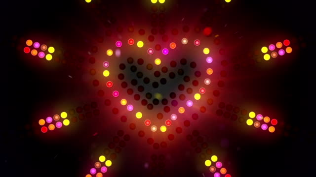 heart sign flashing light loopable video