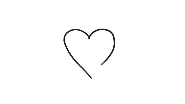 сердце эскиза - набросок стоковые видео и кадры b-roll