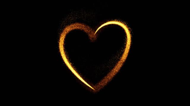 vídeos de stock e filmes b-roll de heart - valentine's concept (loop 4k + alpha) - namorar