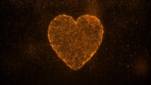 Heartbroken concept glittering particles effect 4K video resolution