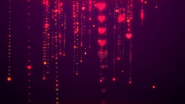 vídeos y material grabado en eventos de stock de (loopable) corazones como telón de fondo, concepto de día de san valentín. - heart