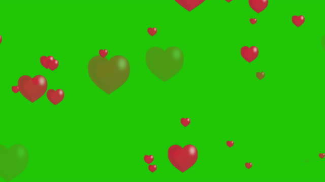 hearts background animation - looping - san valentino video stock e b–roll