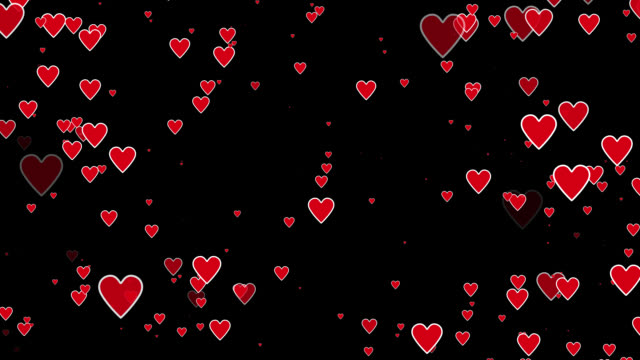 Hearts Background / Overlay PERFECT LOOP video