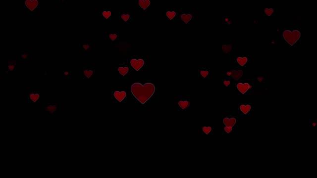 バック グラウンド、背景に赤いハートのバレンタイン日の心します。聖バレンタイン グリーティング カード モーション デザイン - ピンク色点の映像素材/bロール