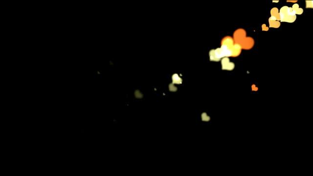 Hearts bokeh video