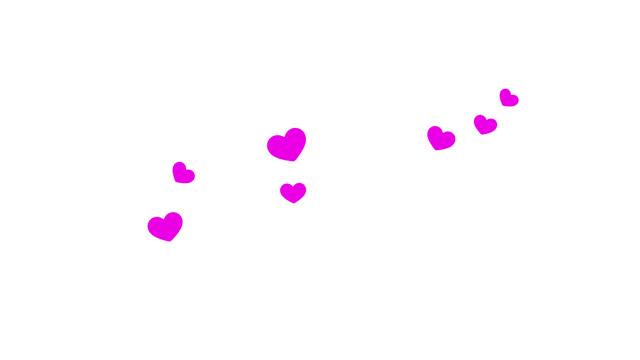 vidéos et rushes de les coeurs volent vers le haut et éclatent à la fin avec le canal alpha - coeur